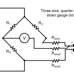 three wire quarter bridge strain gauge circuit [ 1204 x 783 Pixel ]