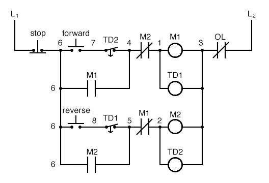 Simple Motor Control Circuit Diagram Forward Reverse