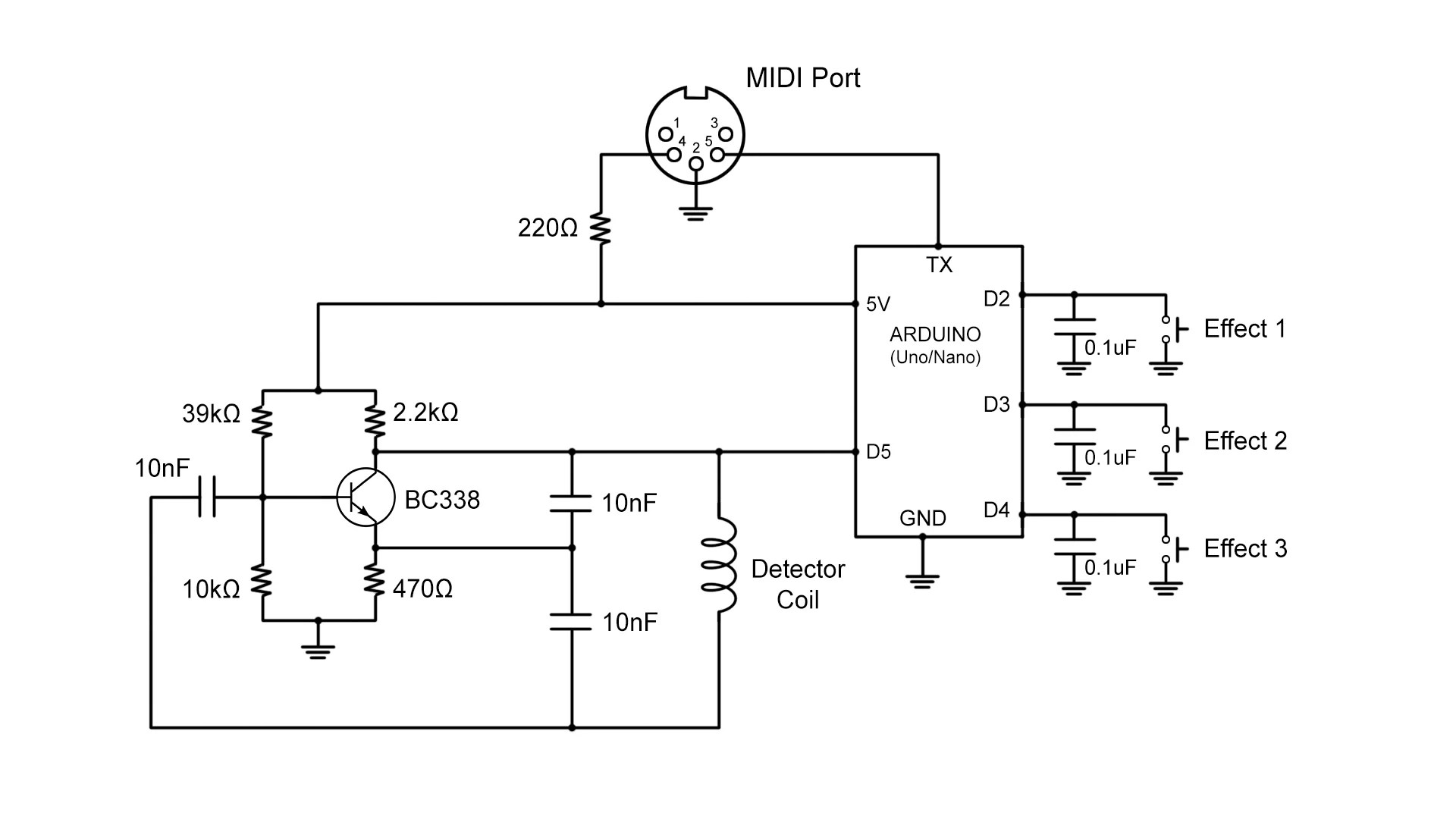 Sound Wiring Schematic How To Build A Touchless Midi Controller With Arduino