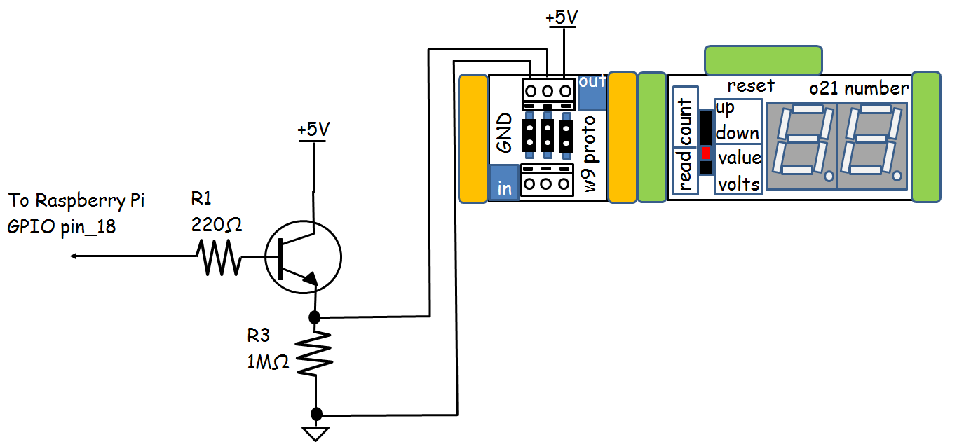 hight resolution of the complete ir remote event counter wiring diagram note the transistor littlebits number driver circuit is shown in at the right section of the