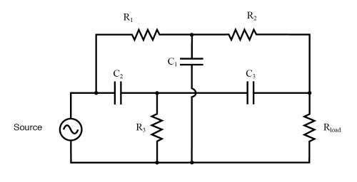 small resolution of  twin t band stop filter