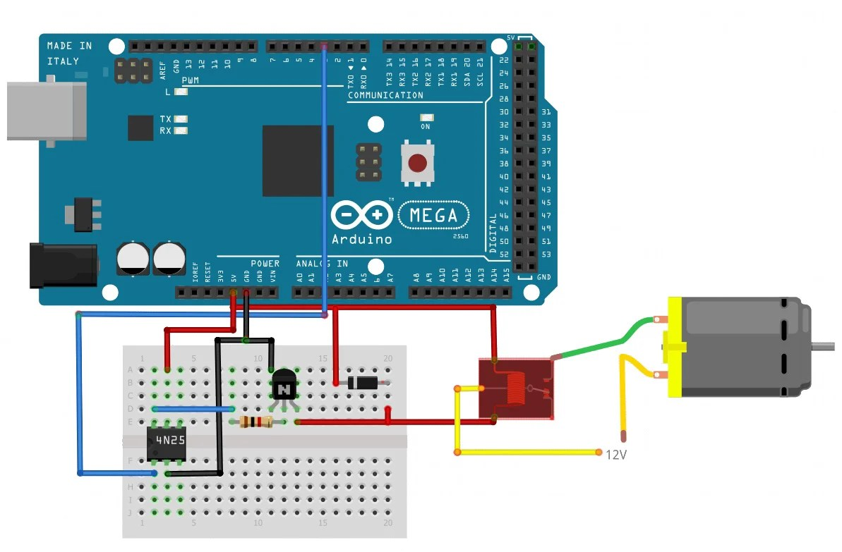 how to use relays to control high voltage circuits with an arduino arduino relay wiring diagram [ 1193 x 783 Pixel ]