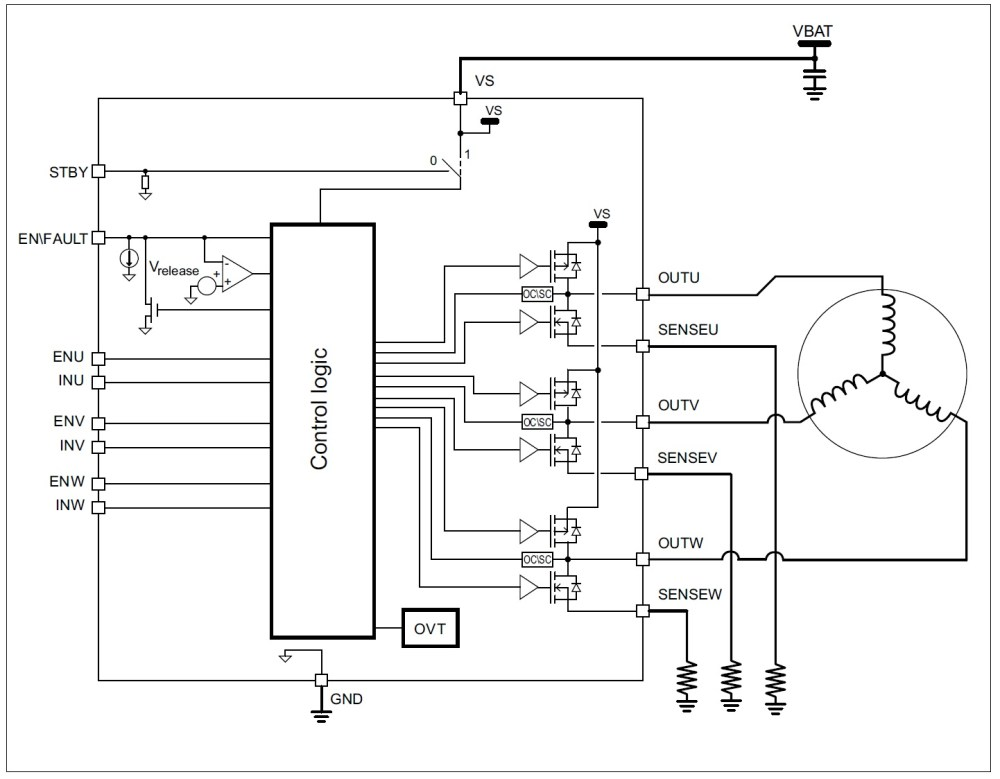 medium resolution of a new motor driver for three phase battery operated motors from stmicroelectronics news