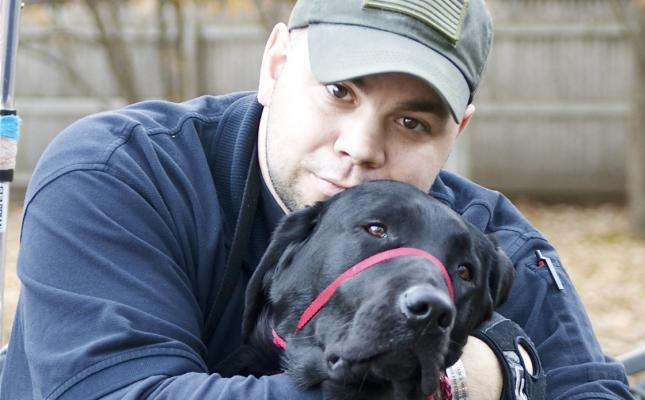 Ryan & Service dog Noonan