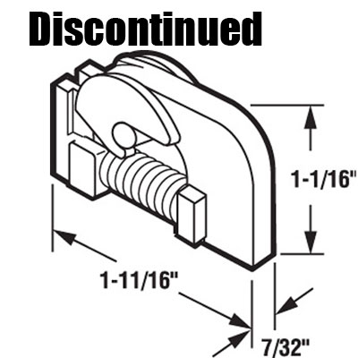 DISCONTINUED Top Nylon Guide for Sliding Screen Door