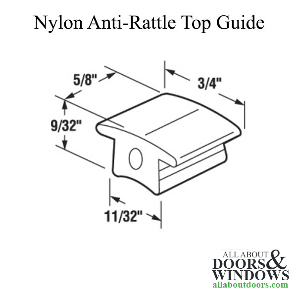 Top Nylon Anti-Rattle Guide for Sliding Screen Door