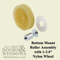 Bottom Mount Guide Roller Assembly with 1-1/4 Inch Nylon ...