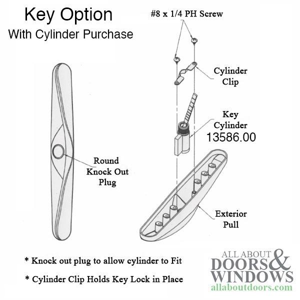 unavailable truth allure patio door handle 3 15 16 non keyed white