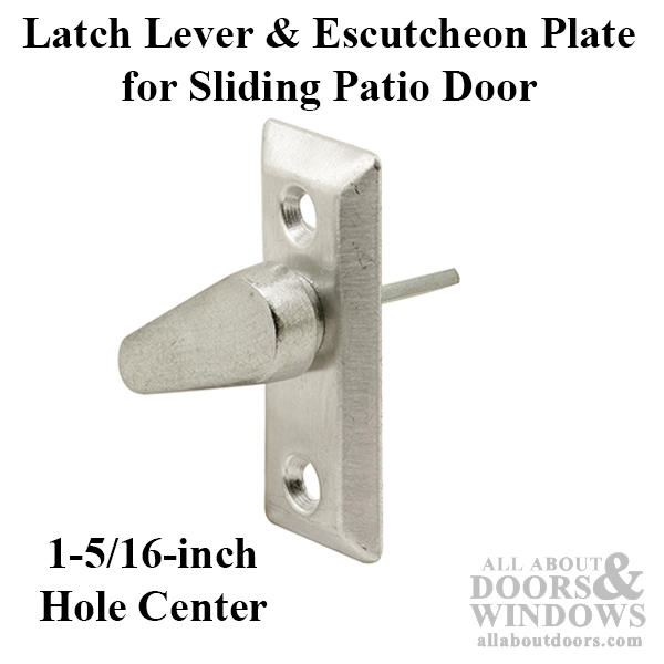 latch lever escutcheon plate sliding patio door diecast lever