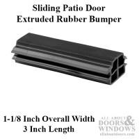 Bumper - Sliding Patio Door, Extruded Rubber Bumper - Black