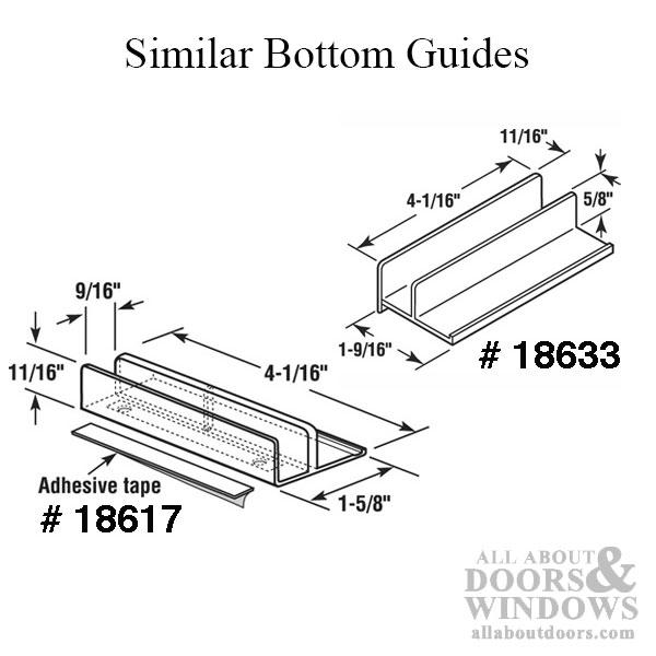 Guide, 9/16 Opening, International Sliding Shower Door