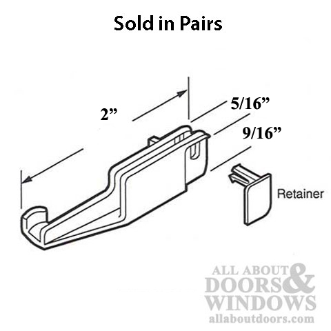 Guide, Bottom Retainer, Sliding Shower Door Panel