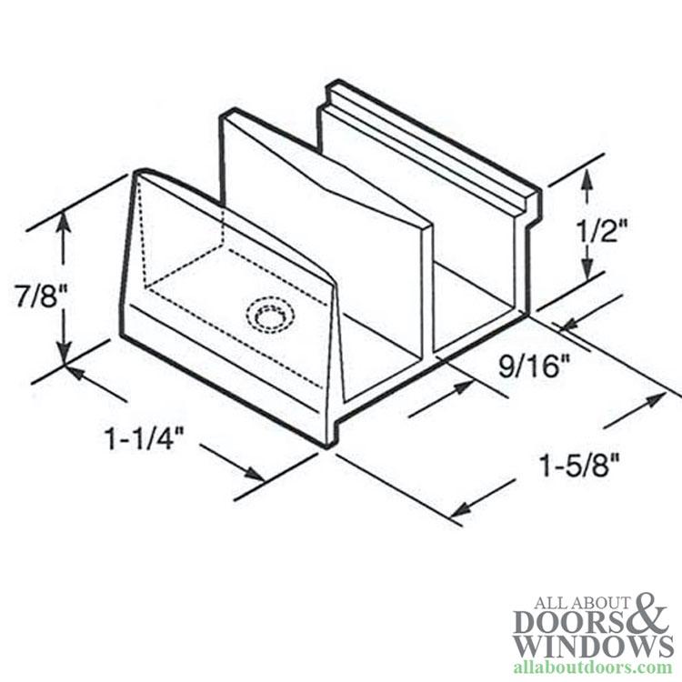 Shower door parts guide
