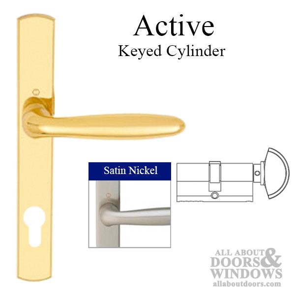 HOPPE Multipoint Lock Handleset Verona M151216N Solid Brass  Satin Nickel Active