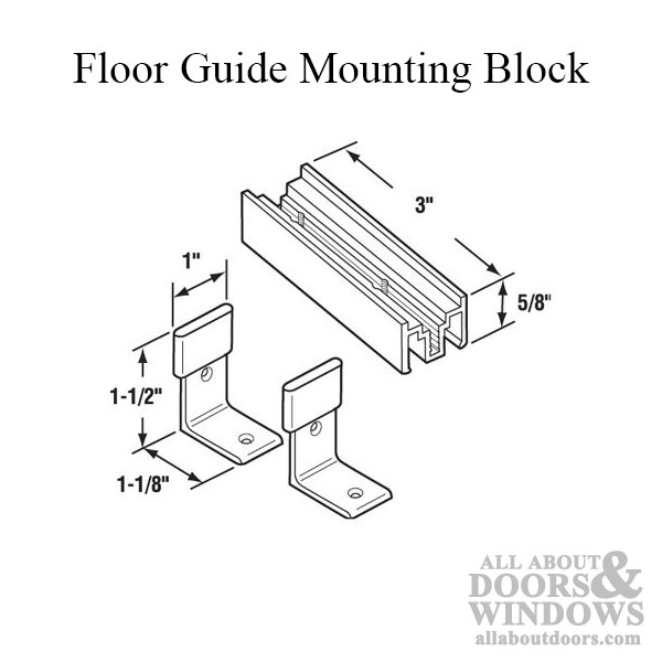Floor Guide Mounting Block
