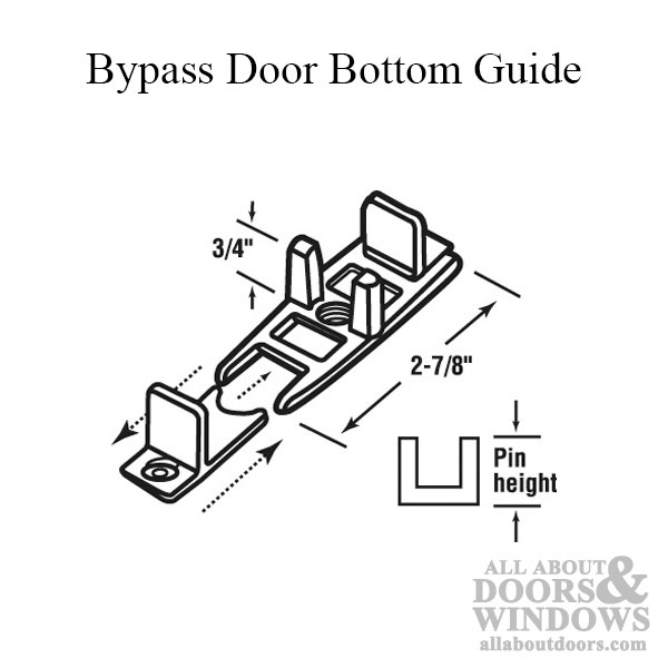 Guide, Bottom, Bi-pass Door, Adj