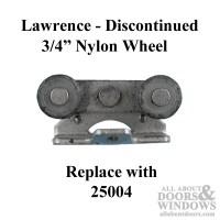 Lawrence sliding pocket door roller, 3/4 nylon wheel - See ...