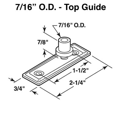 Guide, Top Bifolding Door 7/16 inch O.D.