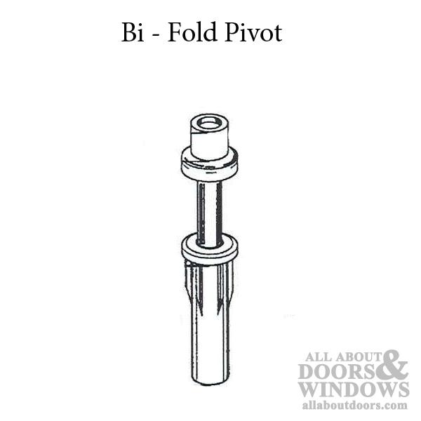 Pivot , 7/16 inch dia, Spring loaded Top, Bi-Fold