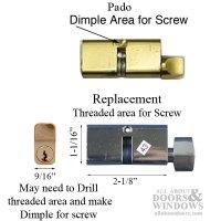 Pado Mortise Lock Cylinder, Key Both Sides : SEE NOTES