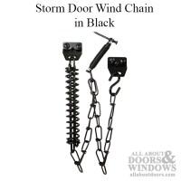 Wind Chain - Storm Door - Black