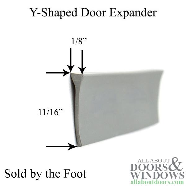 Sweep Yshape Storm Door expander  Grey