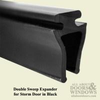 Larson Double Sweep Expander for Storm Door - Black