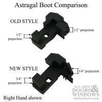 Astragal Boot, Bottom of double door, Right Hand - Black