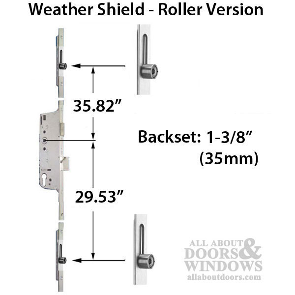 Weathershield Manual Version Lock Rollers at 29.53