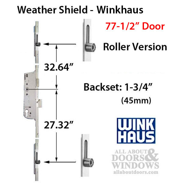 Winkhaus Euro-Style Multipoint lock with rollers for