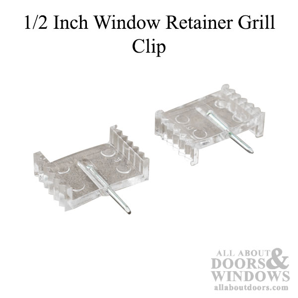 12 Inch Window Grid Retainer Grille Clip  Clear Plastic