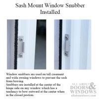 Window Snubber, Concealed Frame & Sash Mount, sash anti-bow
