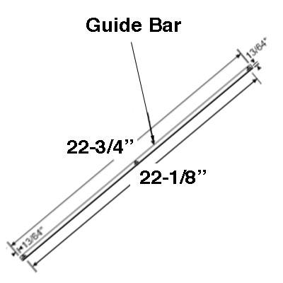 Guide Bar/ Track, 22-3/4 inch Dual Arm Entrygard window