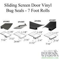 7 Foot Roll of Vinyl Bug Seal for Sliding Screen Door - Black
