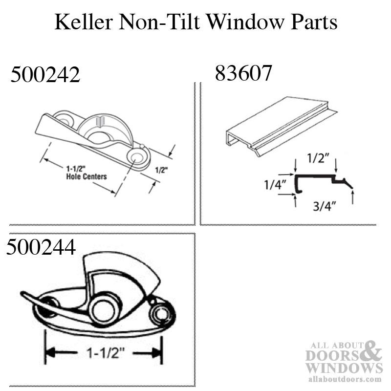 Top Sash Guide, Keller Aluminum Window