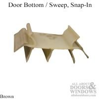 Door Bottom / Sweep, Snap-In, Brown