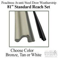 Peachtree Avanti Steel Door Weatherstrip, Q-Lon, Standard ...