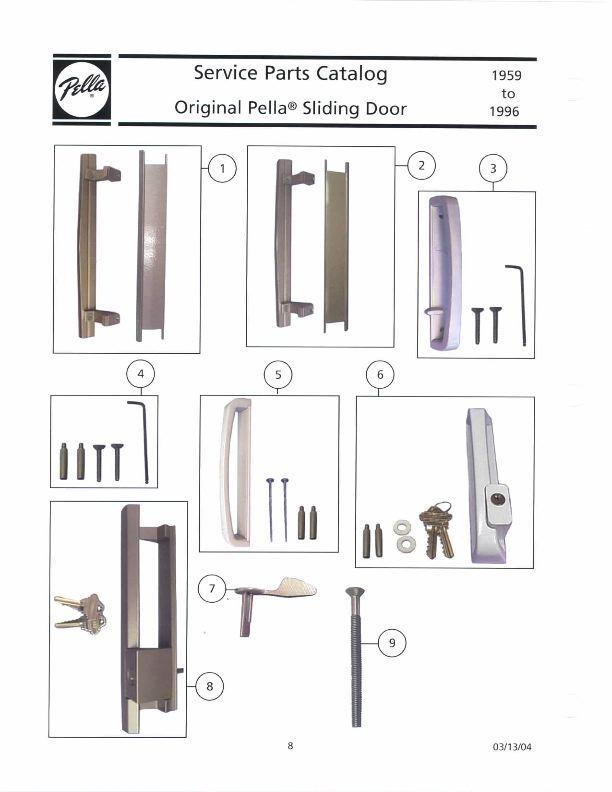 pella sliding door handle interior pull copperite