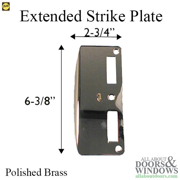 Strike Plate Extended Latch  Deadbolt Pella Door
