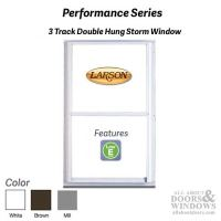 Larson Performance Double Hung 3-Track Storm Window, Low-E ...