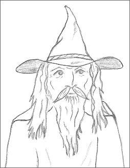 Magical Wizard Drawings