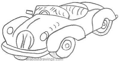 Cartoon Drawings of Cars Showroom
