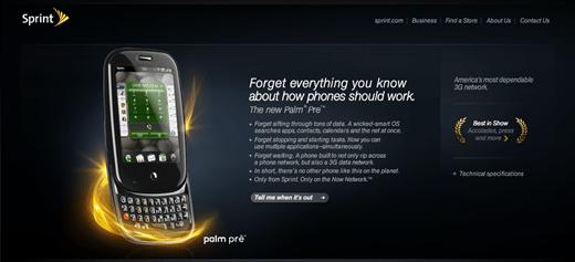 Sprint Palm Pre Site