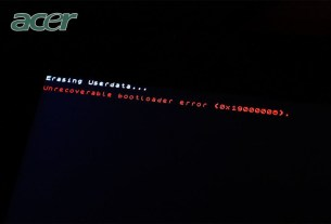 Acer Iconia A200 Unrecoverable bootloader error