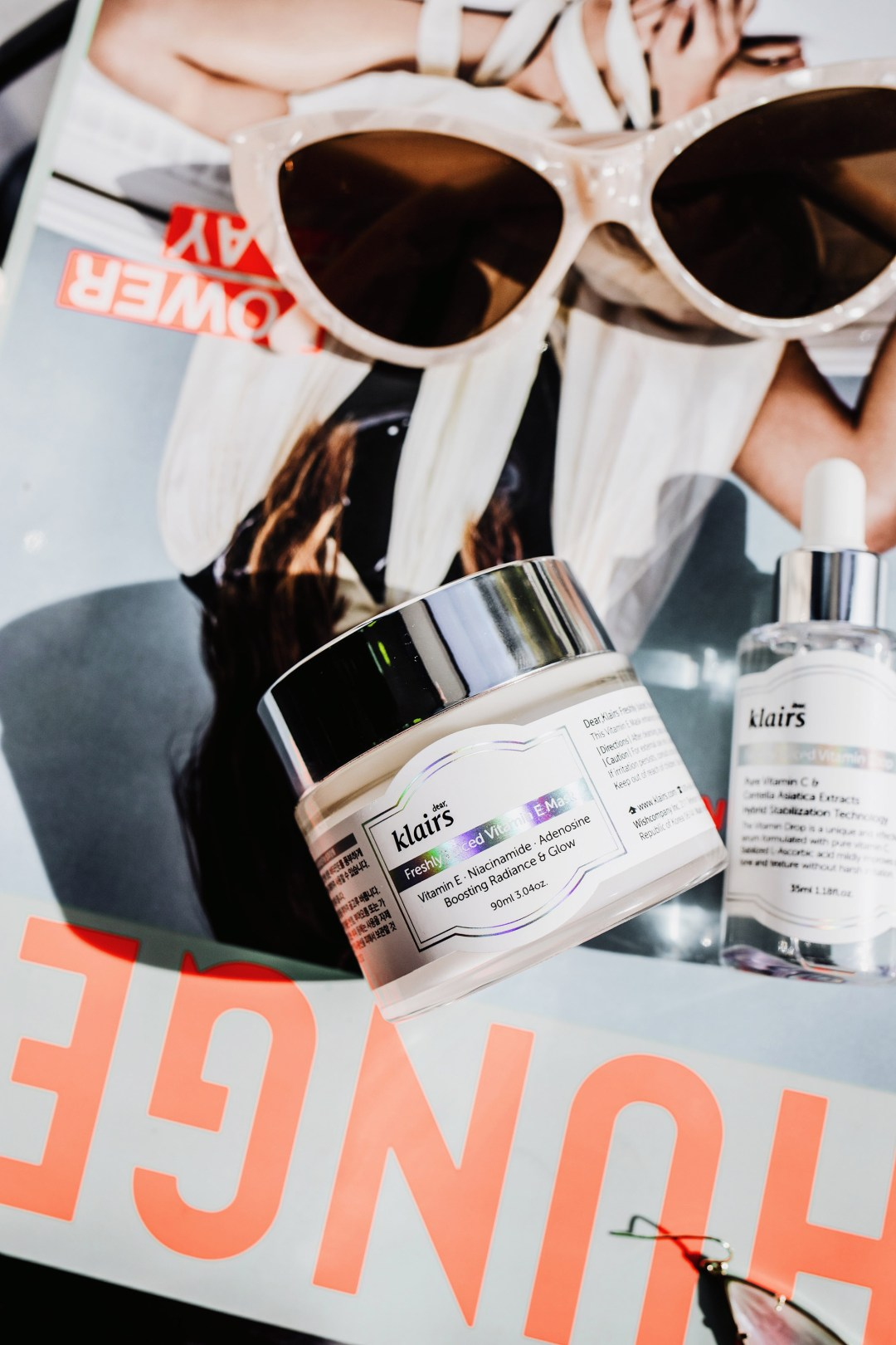 Two Korean Skincare Products for Glowing Skin_allaboutgoodvibes.com_IG @thevibescloset_Molly Larsen_Beauty Style Blogger_Flatlay