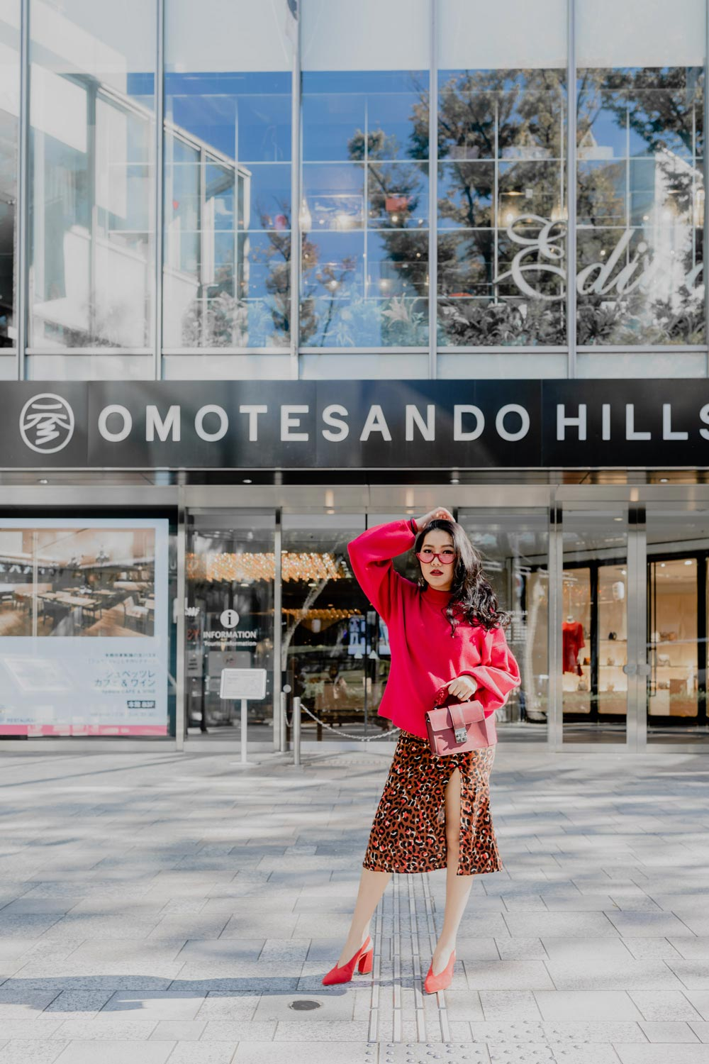 Last Minute Holiday Outfit | Fall Winter Outfit Ideas | Red Leopard #GoodVibesGifting Day 1_12-17-2018_Molly Larsen IG @thevibescloset_allaboutgoodvibes.com