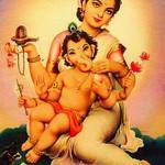 Parvati Makes Ganesha