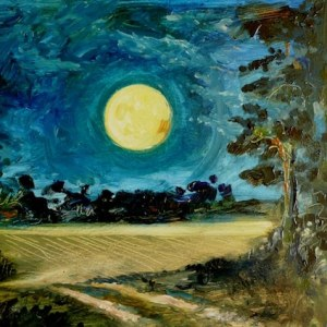 harvest moon painting-artist unknown