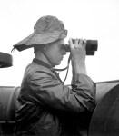 Prow lookout aboard USS NASSAU