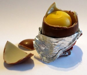 Broken Kinder Surprise Egg